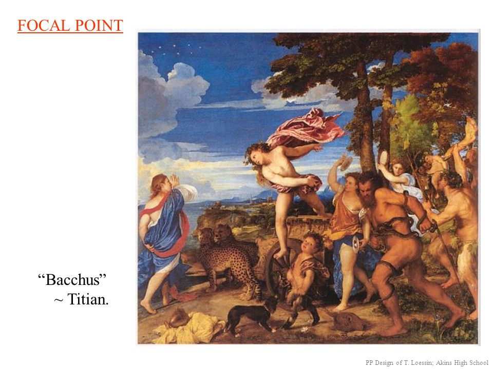 FOCAL POINT Bacchus ~ Titian.