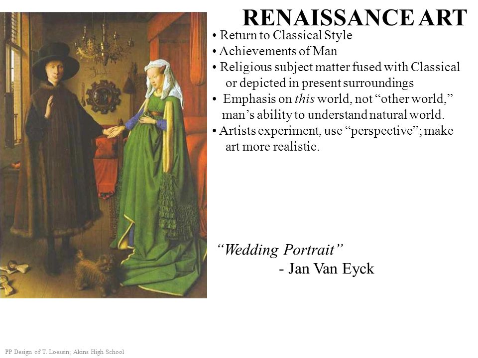 RENAISSANCE ART Wedding Portrait - Jan Van Eyck