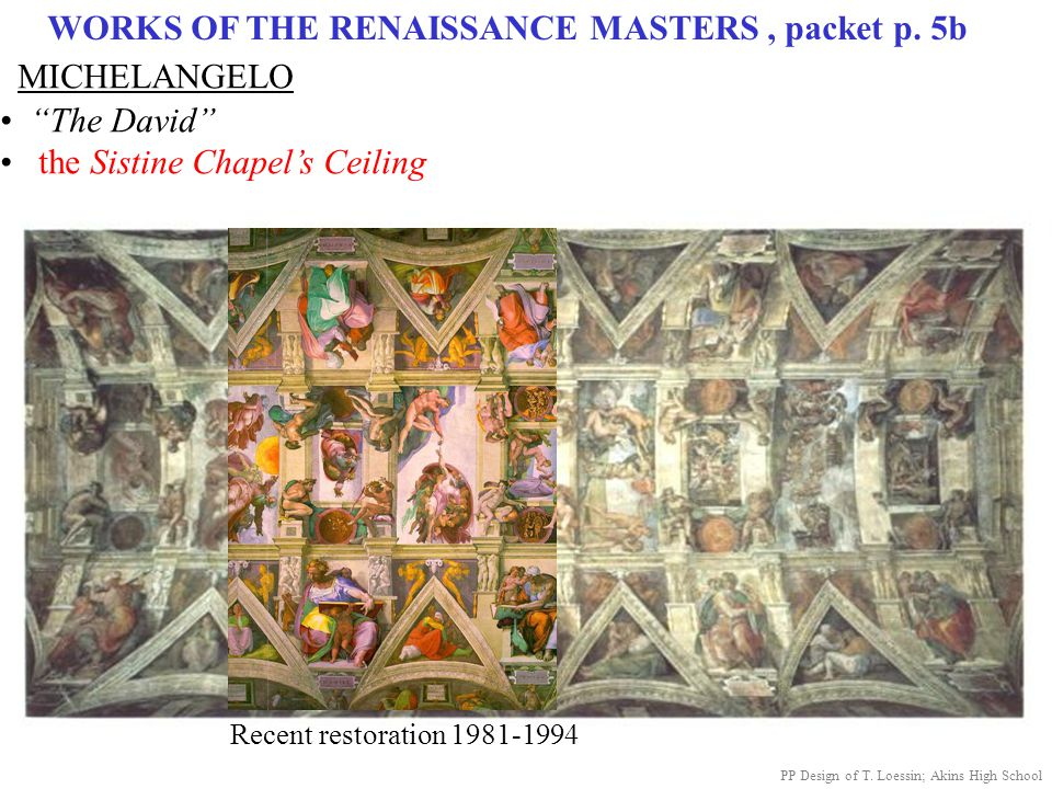 WORKS OF THE RENAISSANCE MASTERS , packet p. 5b