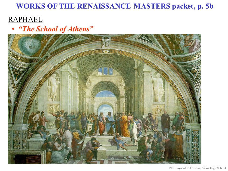 WORKS OF THE RENAISSANCE MASTERS packet, p. 5b