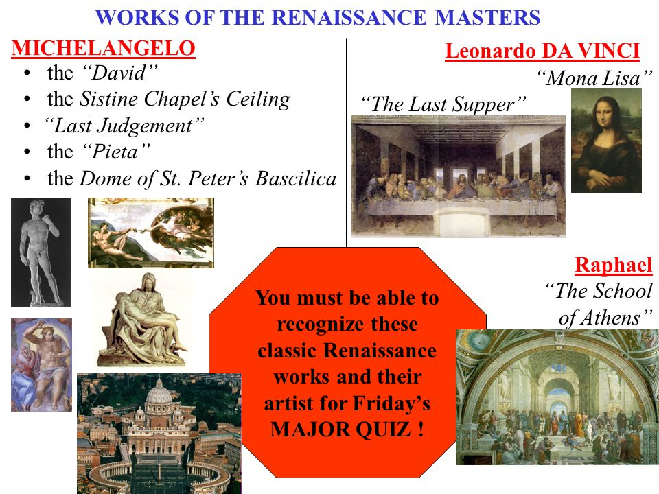 WORKS OF THE RENAISSANCE MASTERS