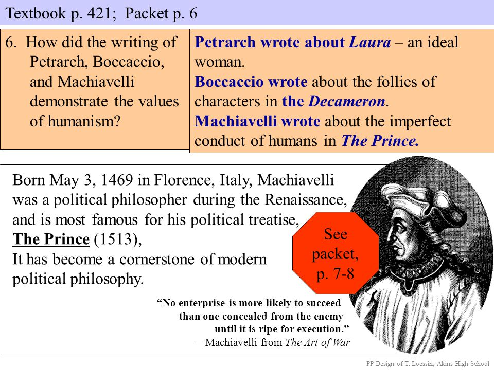 Petrarch wrote about Laura – an ideal woman.