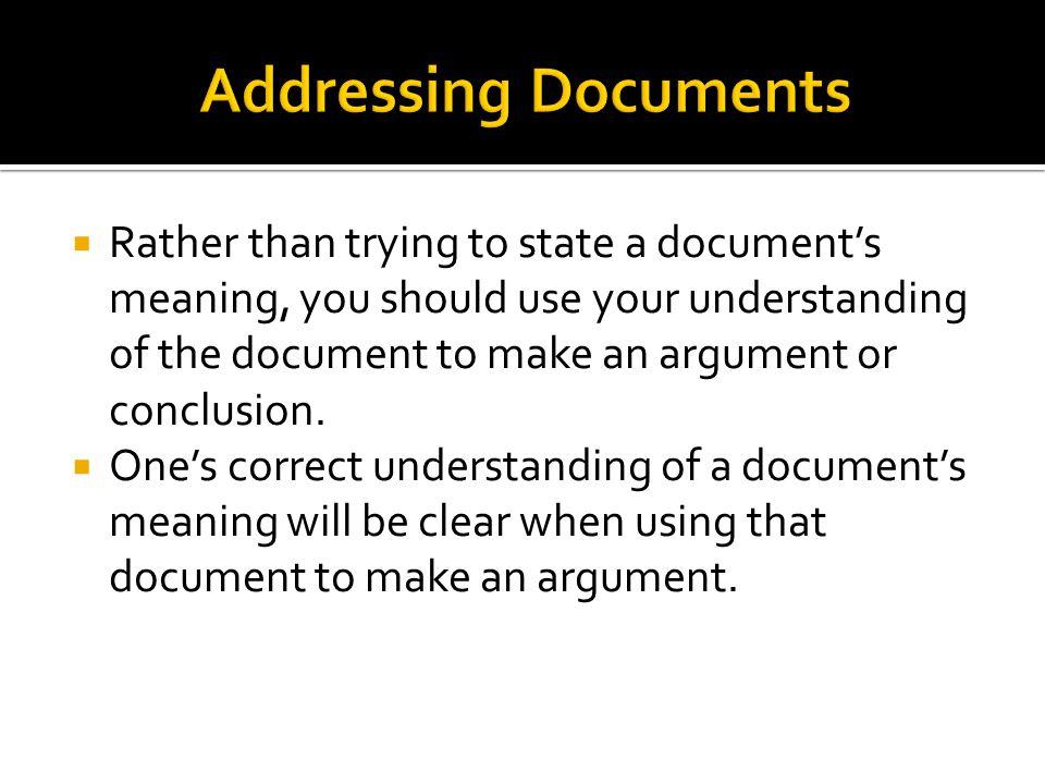Addressing Documents