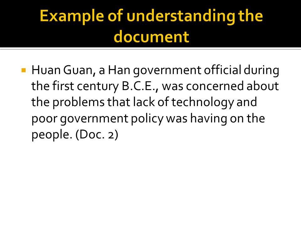 Example of understanding the document