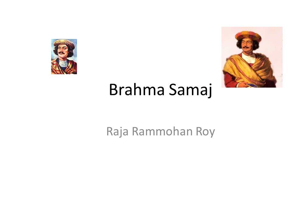 Brahma Samaj Raja Rammohan Roy