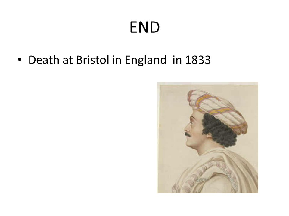 END Death at Bristol in England in 1833