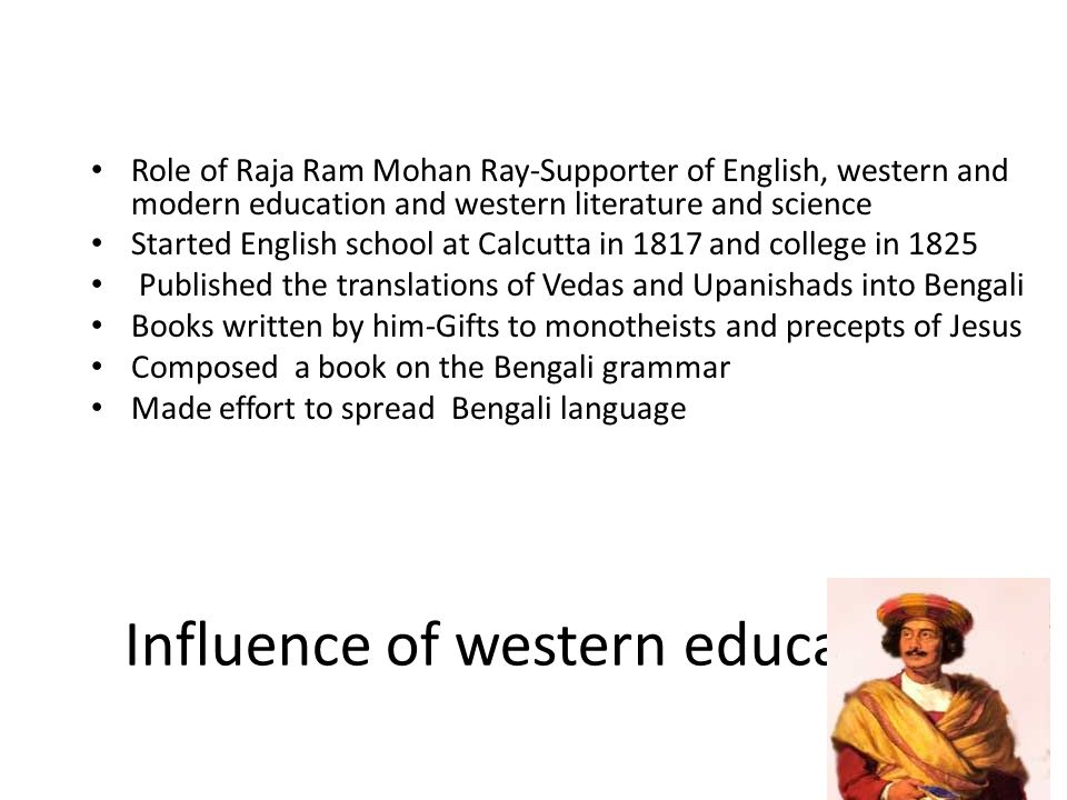Influence of western education
