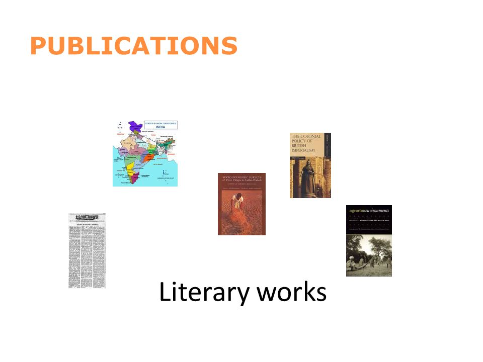 PUBLICATIONS Literary works