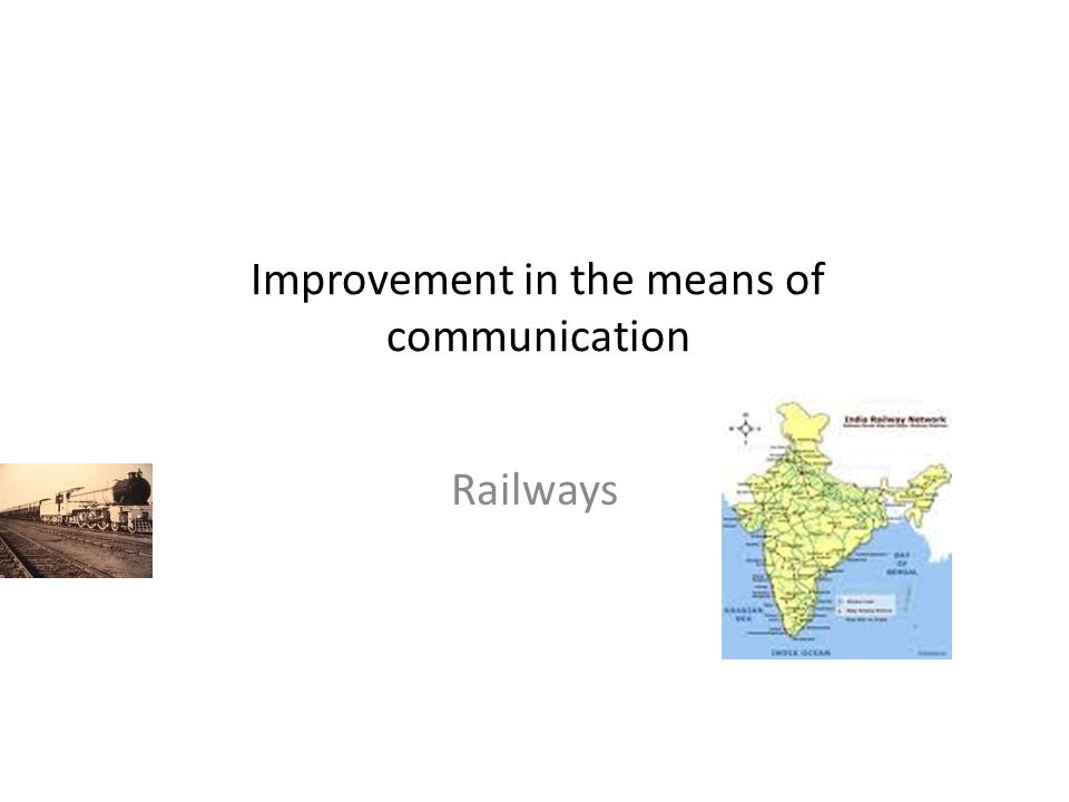 Improvement in the means of communication