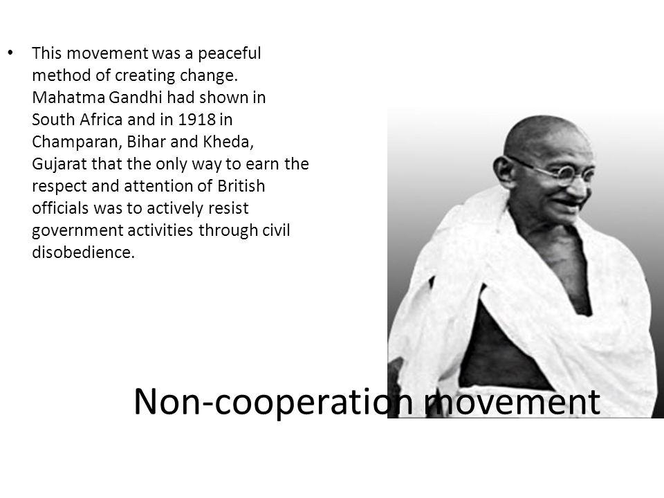 Non-cooperation movement