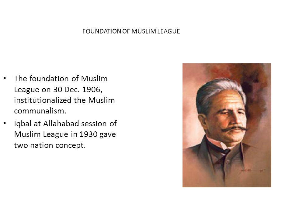 FOUNDATION OF MUSLIM LEAGUE