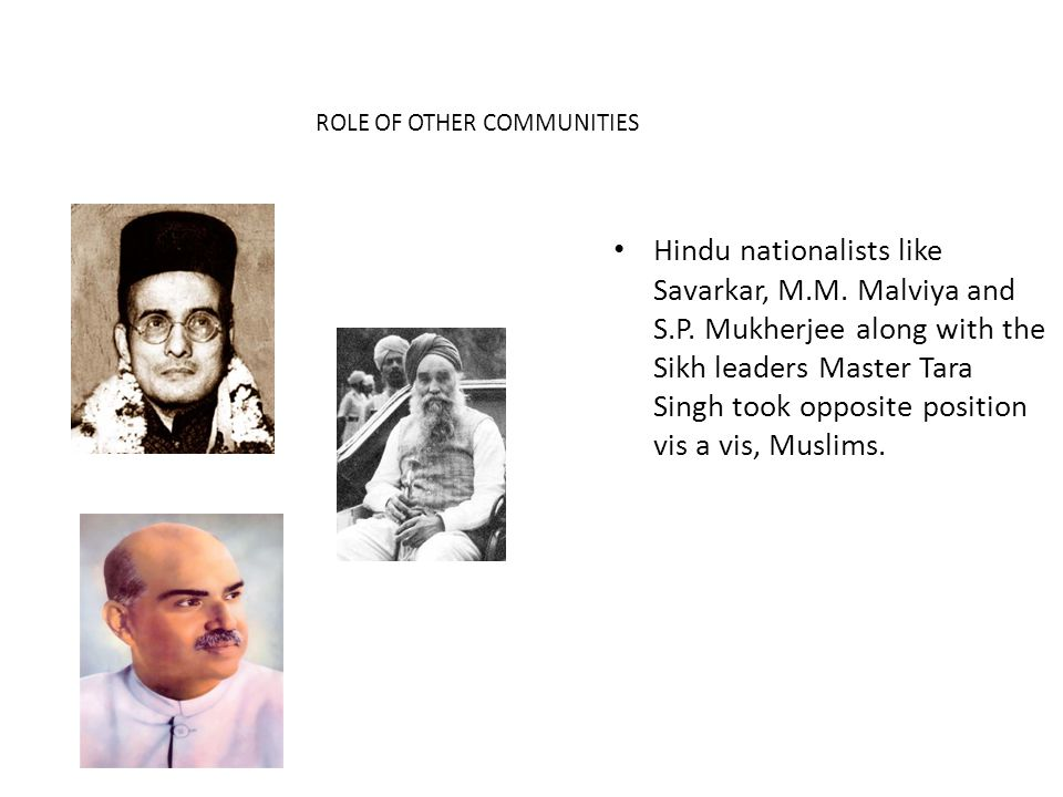 ROLE OF OTHER COMMUNITIES