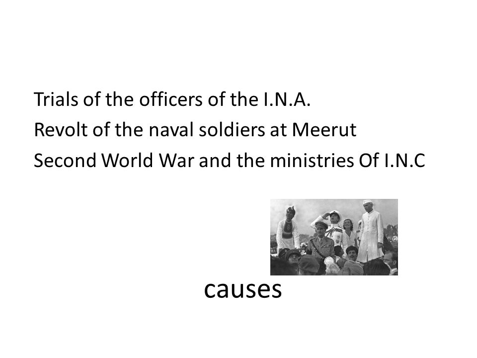 causes Trials of the officers of the I.N.A.
