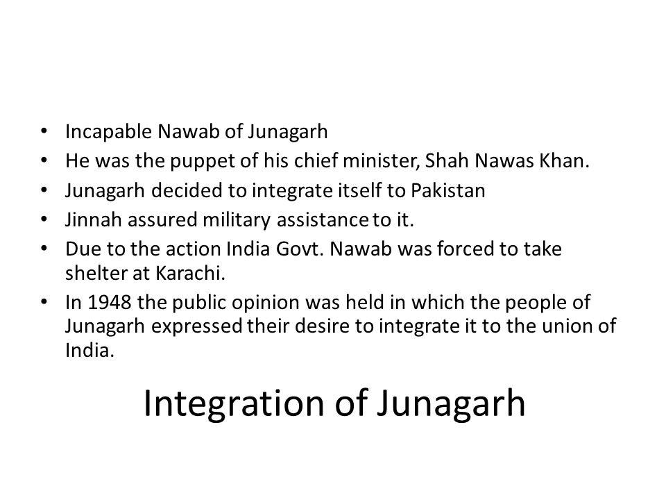 Integration of Junagarh