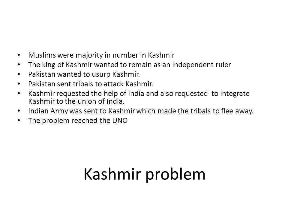 Kashmir problem Muslims were majority in number in Kashmir