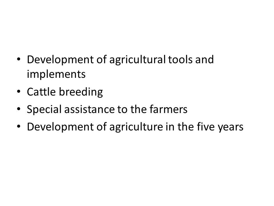 Development of agricultural tools and implements