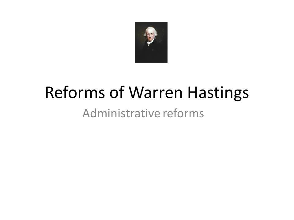 Reforms of Warren Hastings