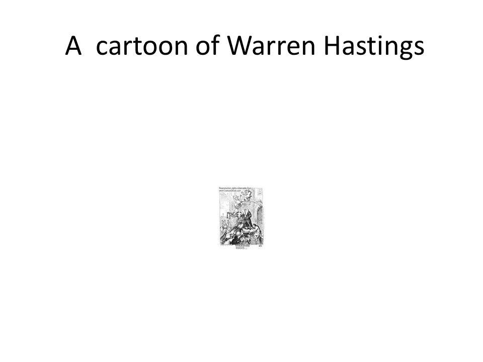 A cartoon of Warren Hastings