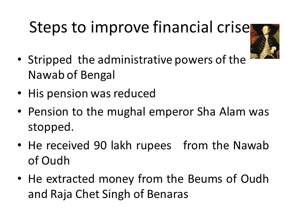Steps to improve financial crises