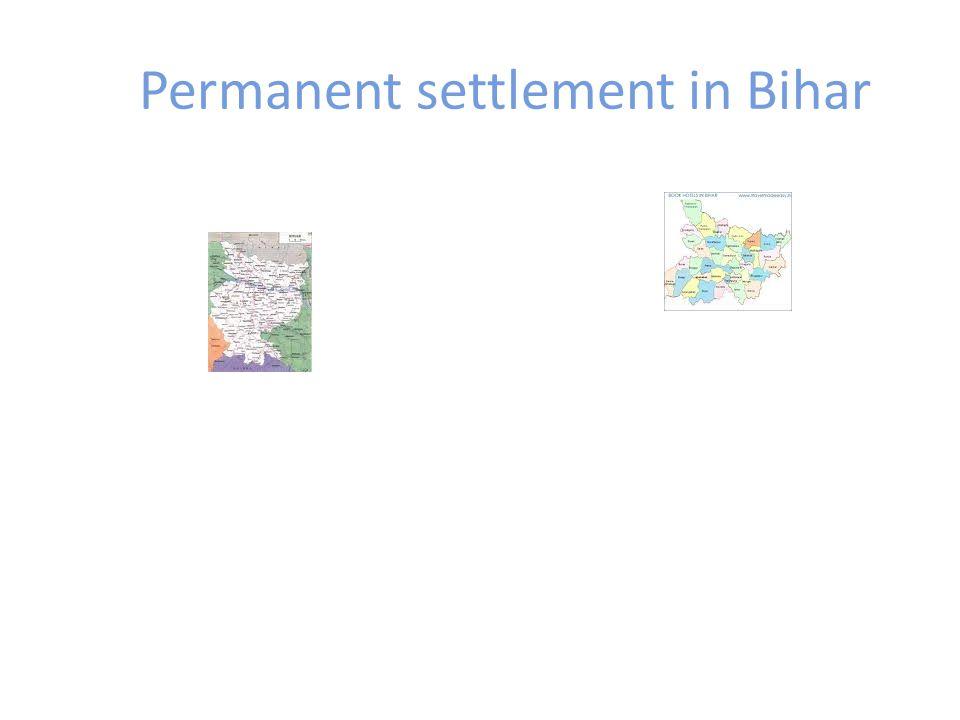 Permanent settlement in Bihar