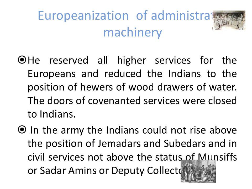 Europeanization of administrative machinery