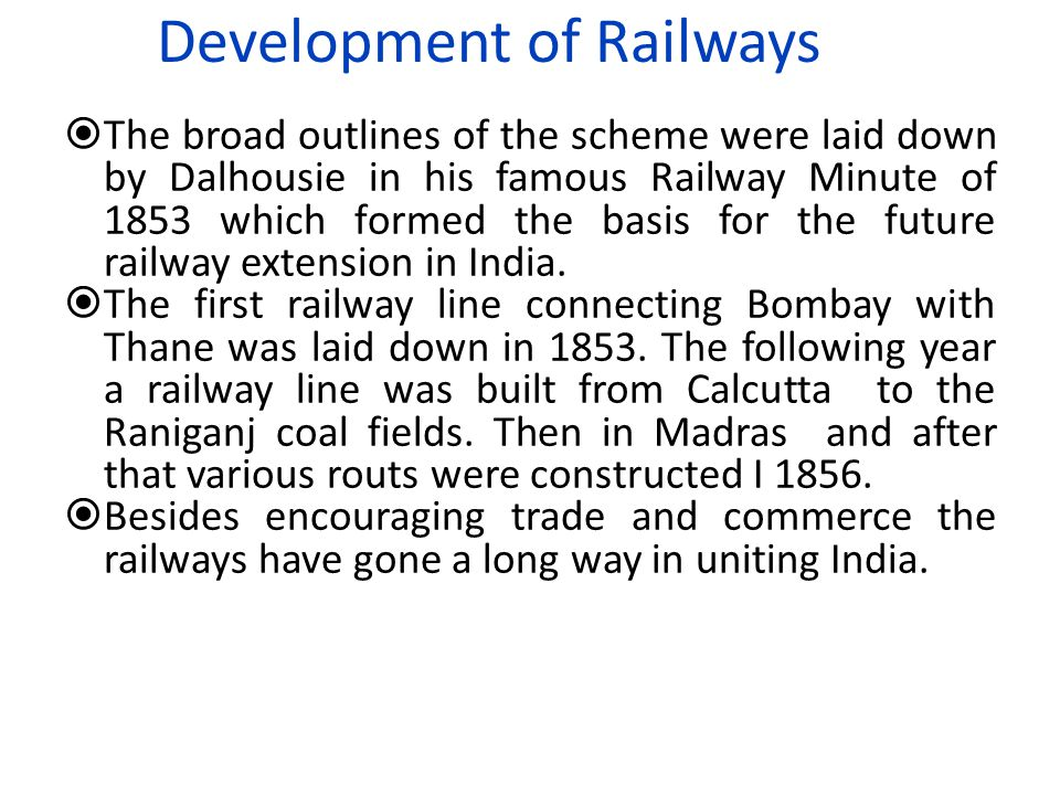 Development of Railways