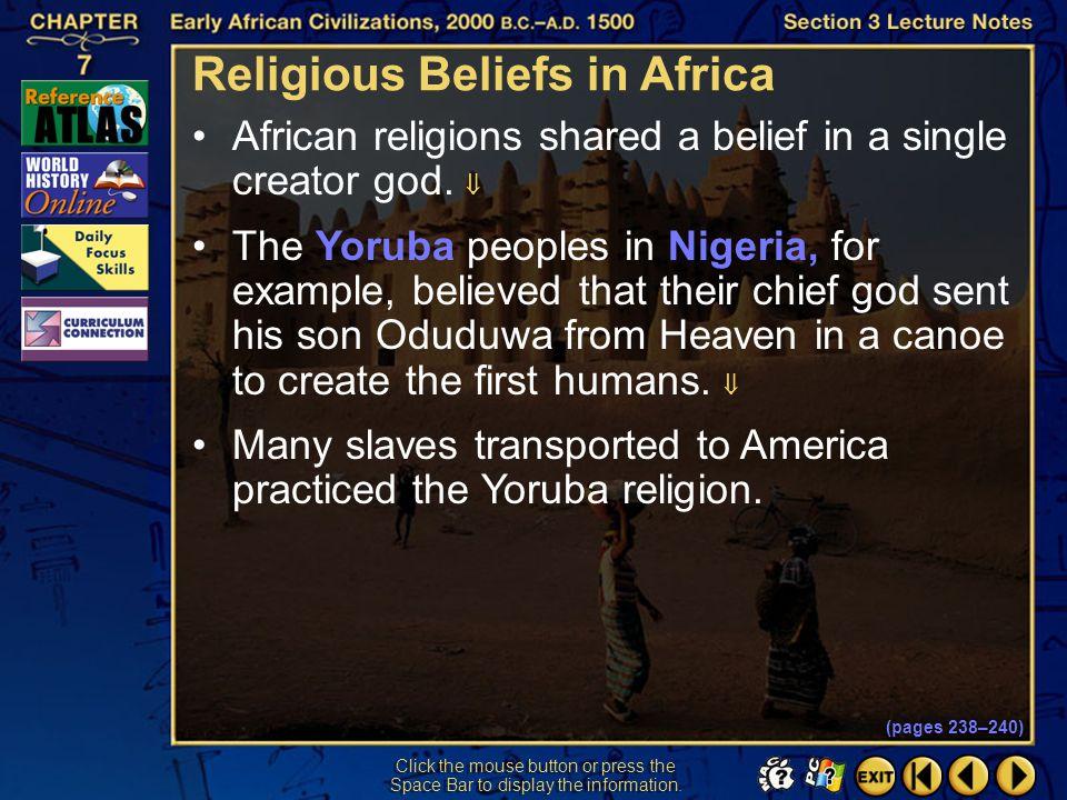 Religious Beliefs in Africa