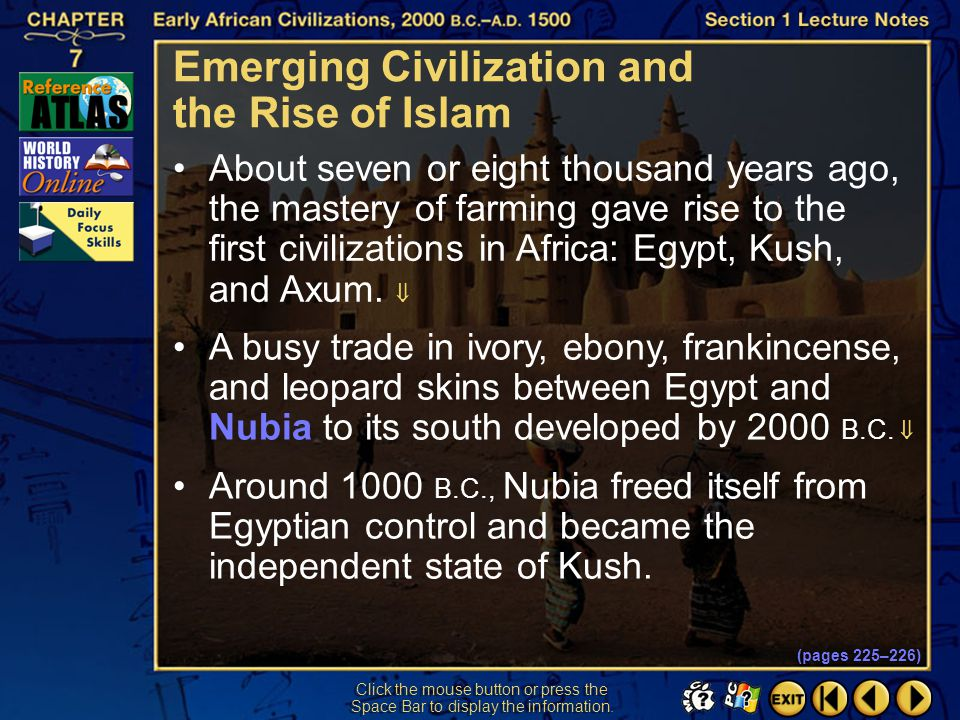 Emerging Civilization and the Rise of Islam