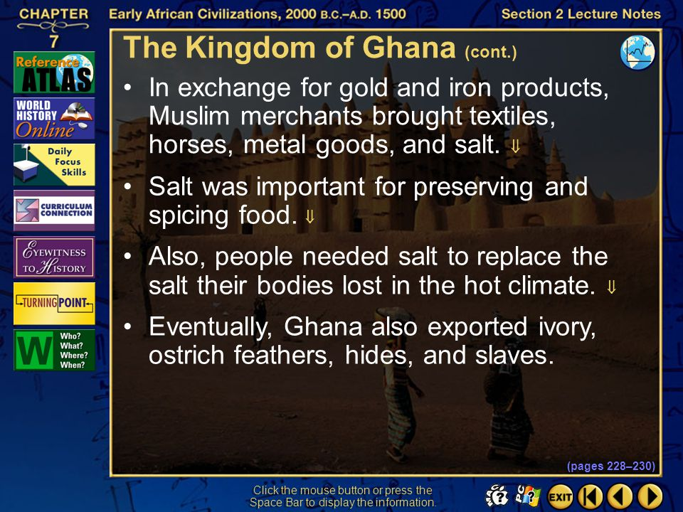 The Kingdom of Ghana (cont.)