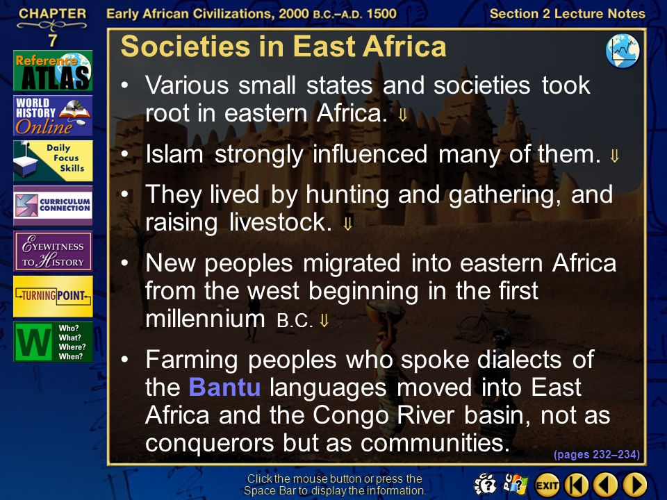 Societies in East Africa