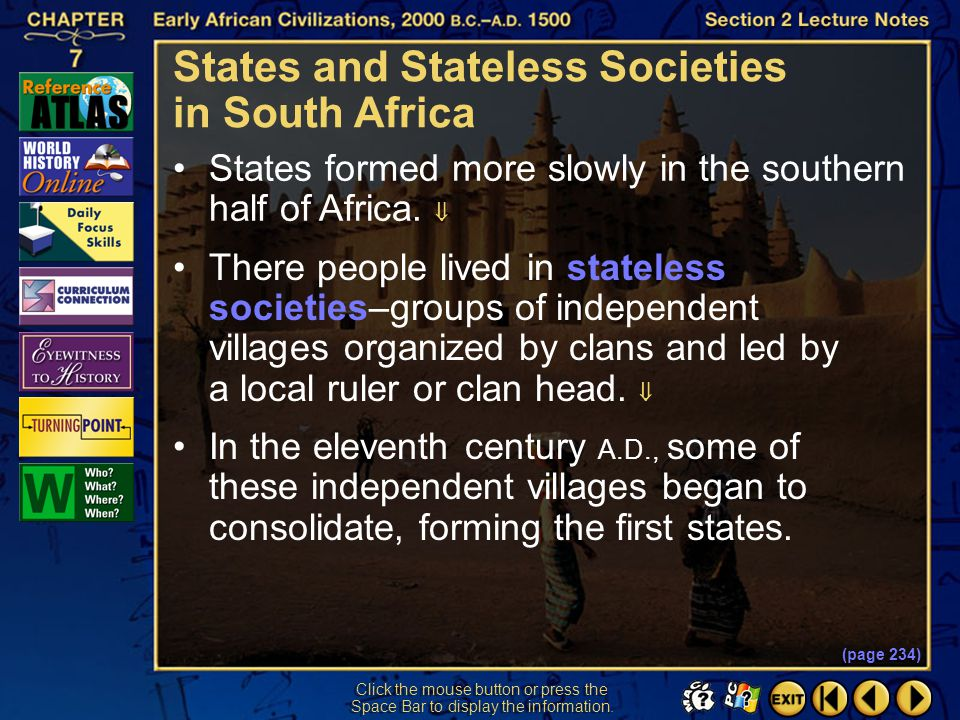 States and Stateless Societies in South Africa