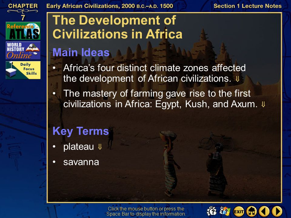 The Development of Civilizations in Africa