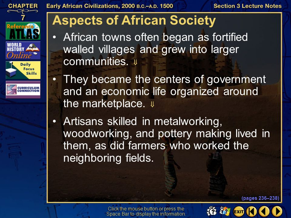 Aspects of African Society