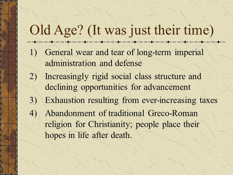Old Age (It was just their time)