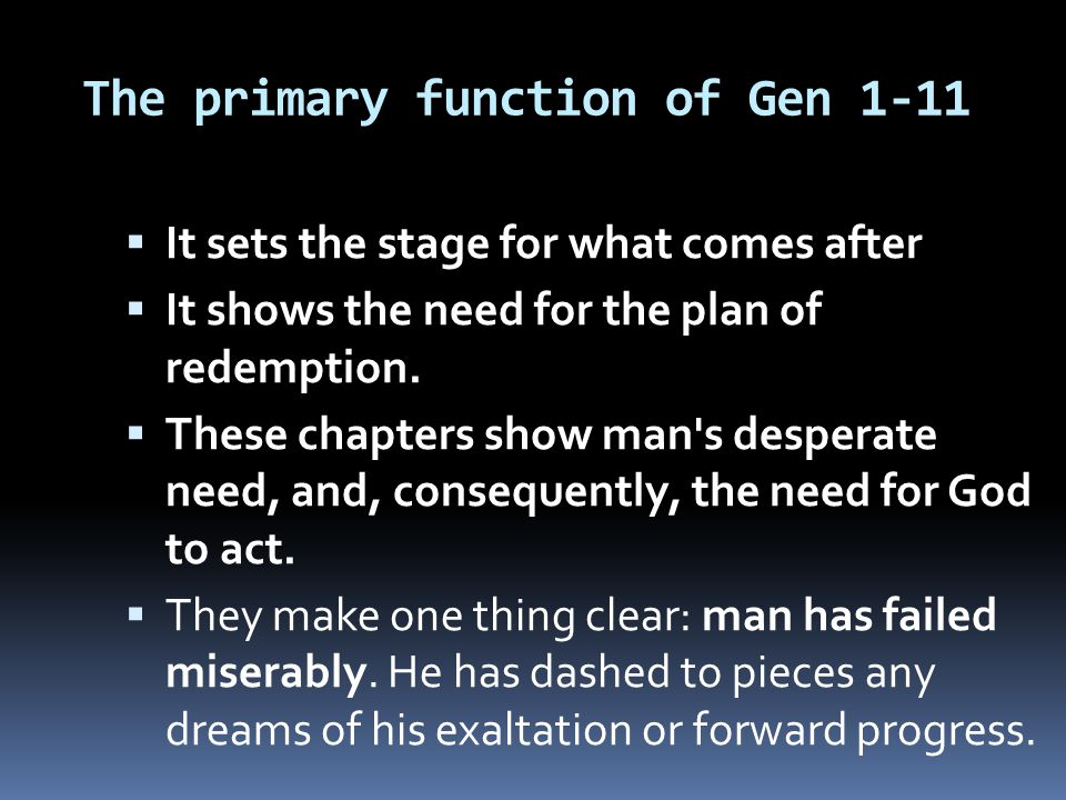 The primary function of Gen 1-11