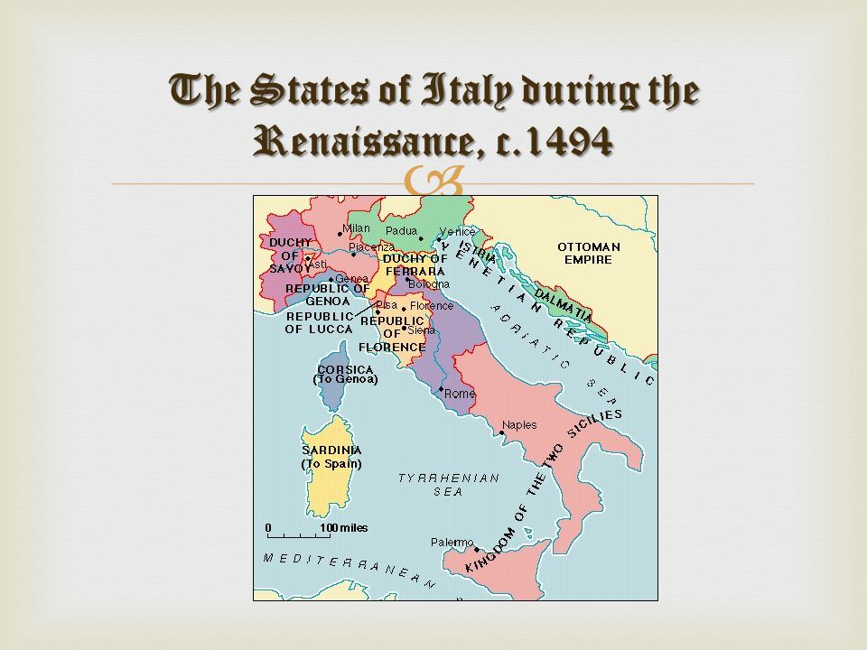 The States of Italy during the Renaissance, c.1494