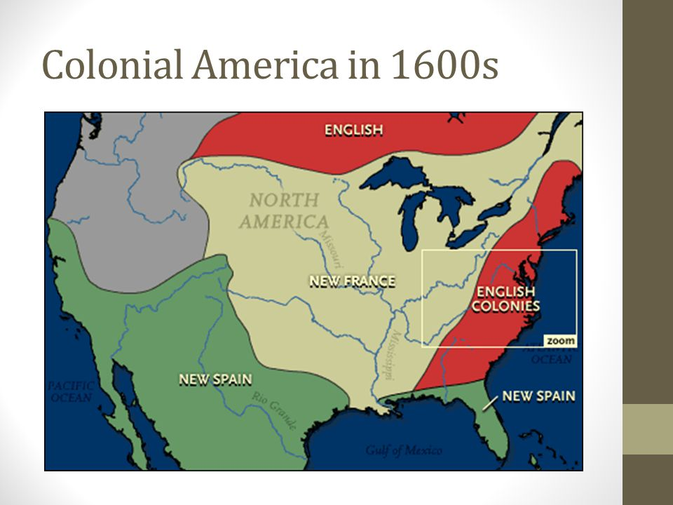 Colonial America in 1600s