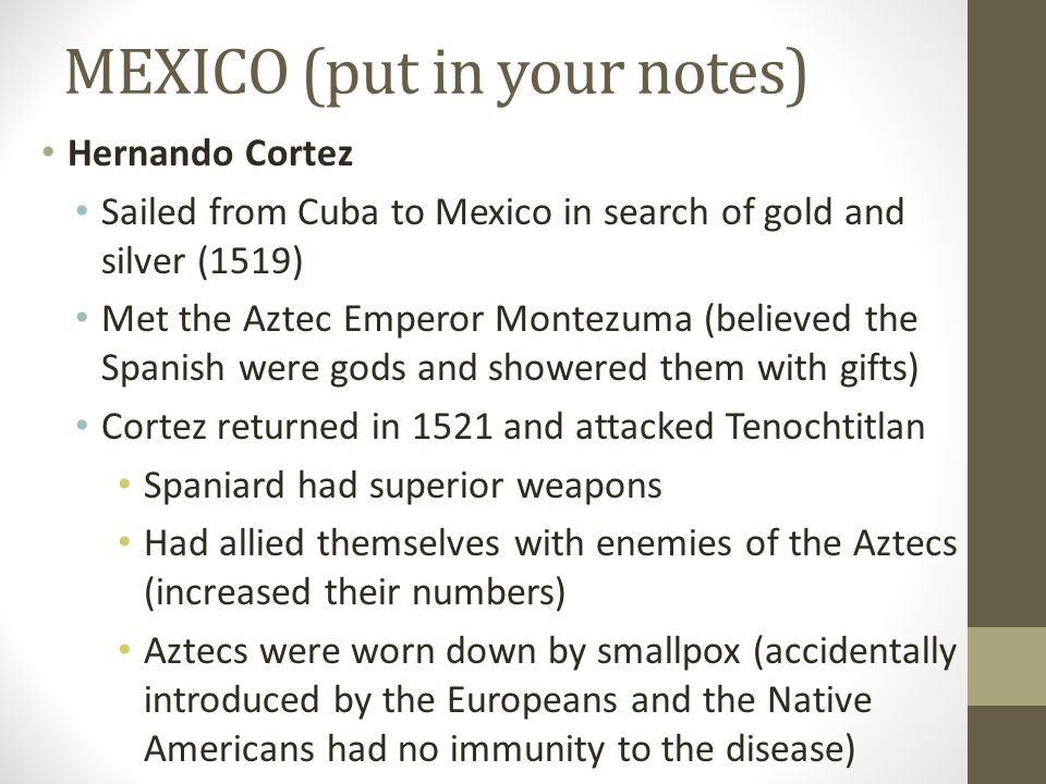 MEXICO (put in your notes)