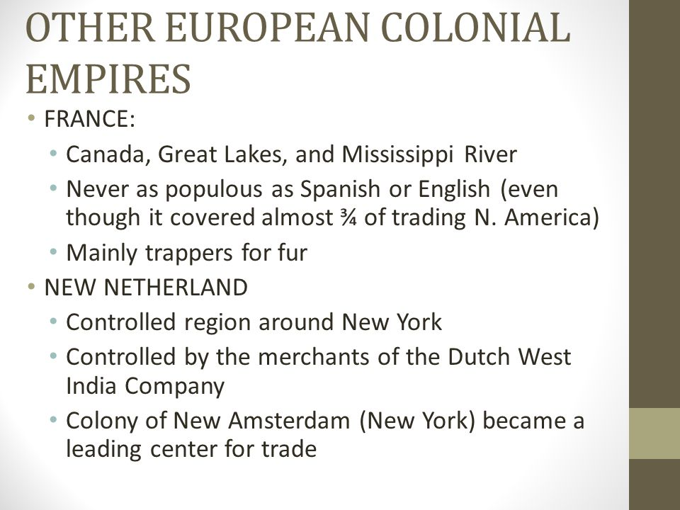 OTHER EUROPEAN COLONIAL EMPIRES