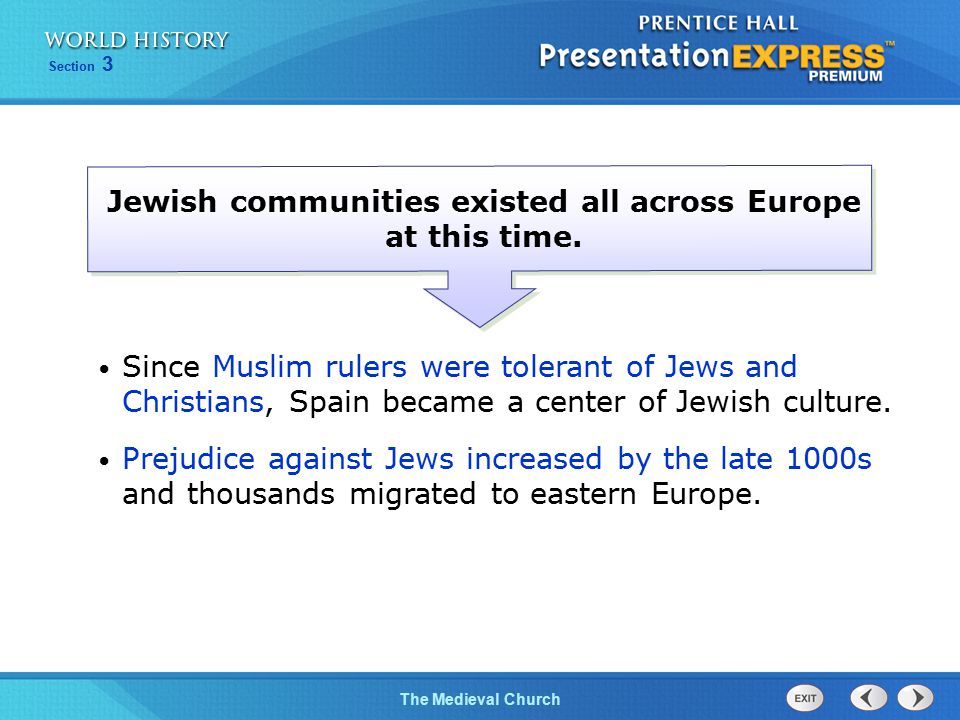 Jewish communities existed all across Europe at this time.