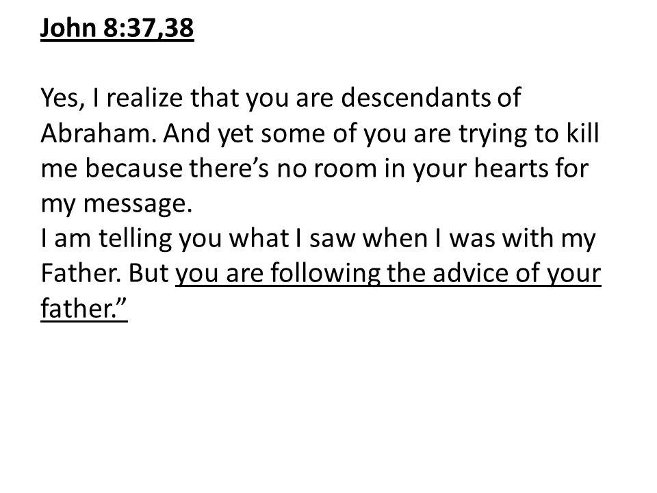 John 8:37,38