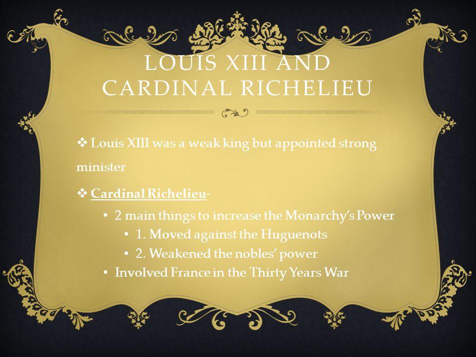 Louis XIII and Cardinal Richelieu