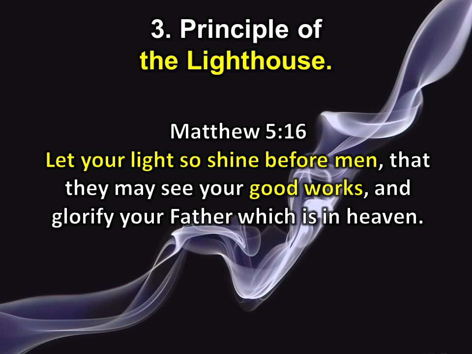 3. Principle of the Lighthouse.