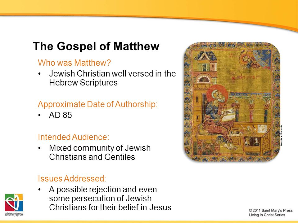 The Gospel of Matthew Who was Matthew