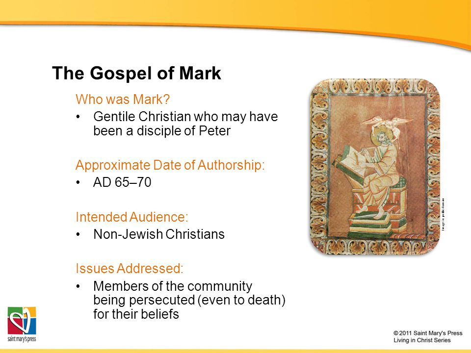 The Gospel of Mark Who was Mark