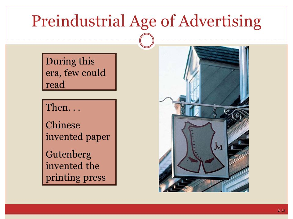 Preindustrial Age of Advertising