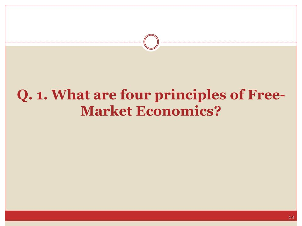 Q. 1. What are four principles of Free-Market Economics