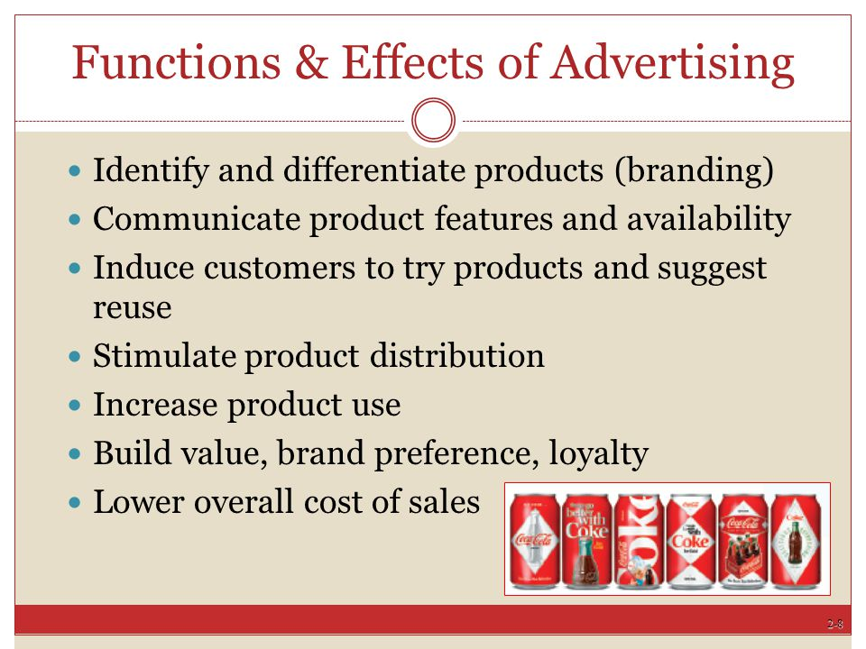 Functions & Effects of Advertising