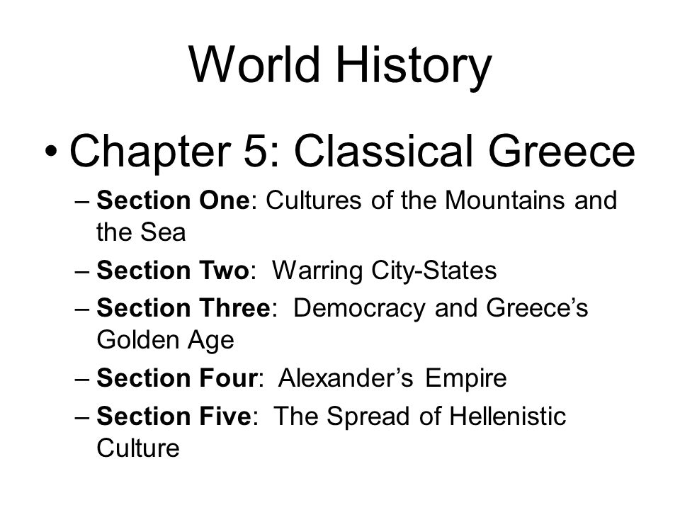 Chapter 5: Classical Greece
