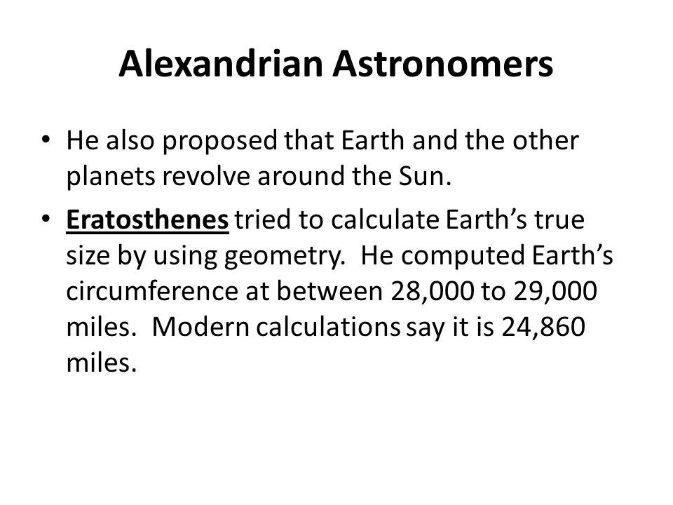 Alexandrian Astronomers